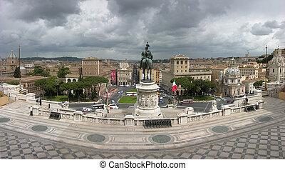 emanuele, rome, vittorio, ii., monument