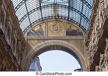 emanuele, vittorio, italië, galerij, milaan