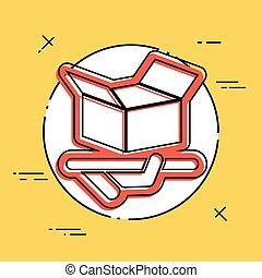 embalagem, ícone