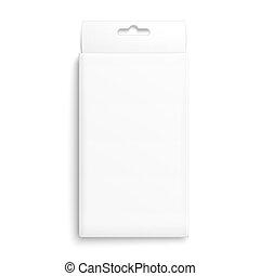 embalagem, branca, box., papel