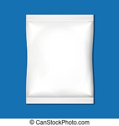 embalagem, branca, em branco
