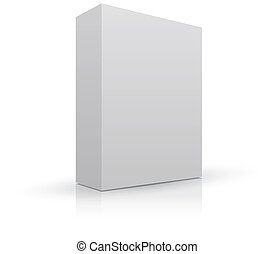 embalagem, caixa, em branco