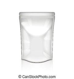 embalagem, folha, vetorial, isolado, branca