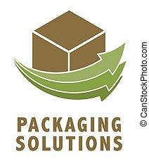 embalagem, logotipo