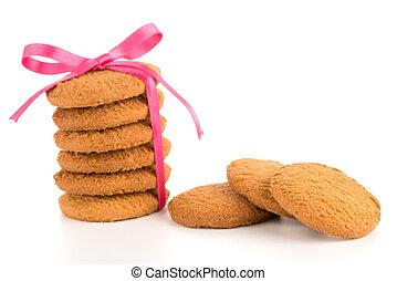 emballé, biscuits, fête