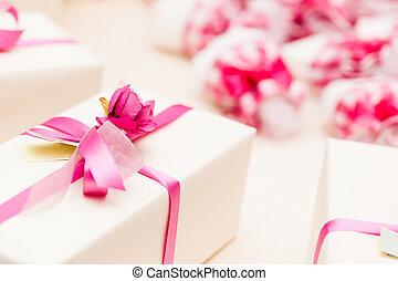 emballé, dons, mariage