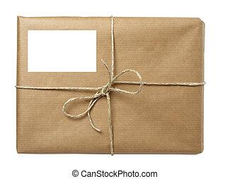emballer, boîte, paquet