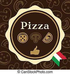 emballering, design, pizza