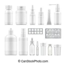 emballering, farmaceutisk, medicinsk, tom