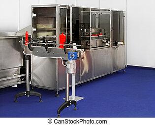 emballering, maskine, ketchup