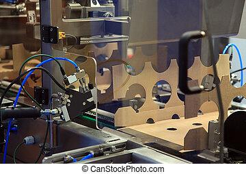 emballering, produktion, papp