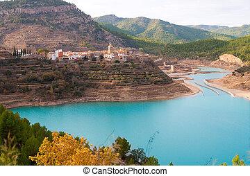 Embalse Arenos in Puebla de Arenoso Castellon Mijares river Spain