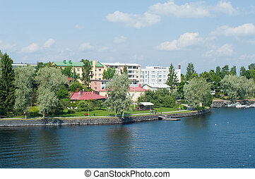 Embankment. Finland. Savonlinna