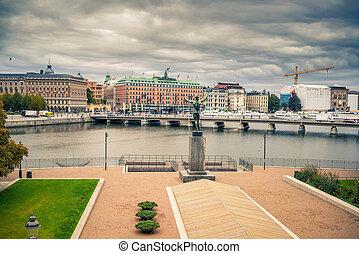 Embankment in central part of Stockholm.