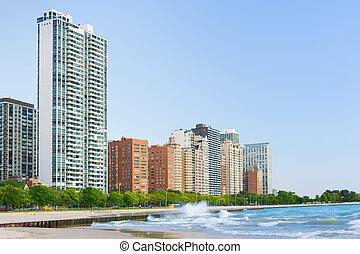 Embankment in Chicago