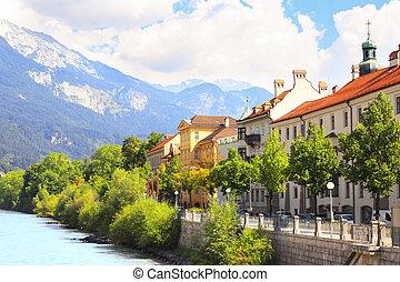 Embankment in Innsbruck, Austria
