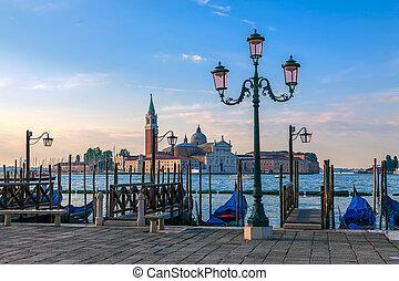 Embankment in Venice at sunrise