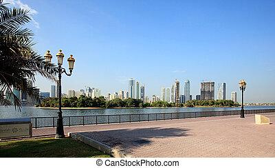 Embankment. Khalid Lagoon. Sharjah. UAE