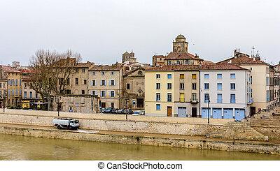 Embankment of Arles - France, Provence-Alpes-Cote d'Azur