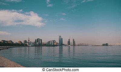 Embankment of Baku - AZERBAIJAN, BAKU, MAY 9: Embankment of...