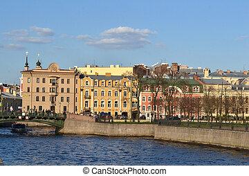 Embankment of Fontanka canal