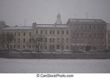 Embankment of the Fontanka River, St. Petersburg, Russia