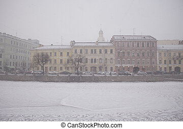 Embankment of the Fontanka River, St. Petersburg, Russia