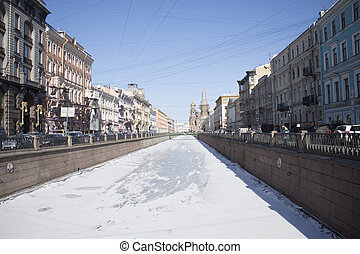 Embankment of the Moika River, St. Petersburg, Russia