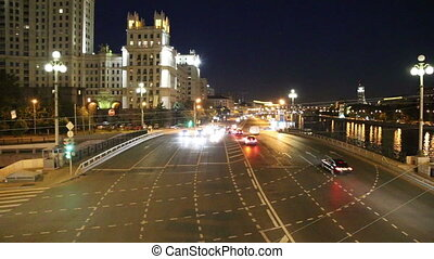 Embankment of the Moskva River