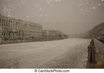 Embankment of the river Fontanka, St. Petersburg, Russia