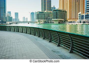 Embankment on the Gulf in Dubai Marina
