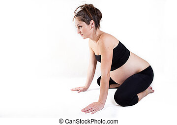 embarazo, yoga