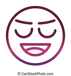 embarrassed funny smiley emoticon face expression gradient style icon