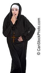 Embarrassed Nun