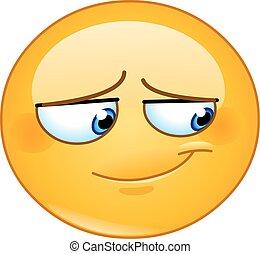 Embarrassed smile emoticon