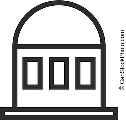 Embassy, city, passport icon vector image. Can also be used for building and landmarks . Suitable for mobile apps, web apps and print media.
