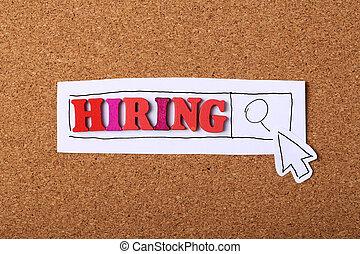 embauche, recherche, concept