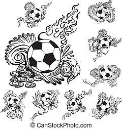 embellishments, fotboll kula
