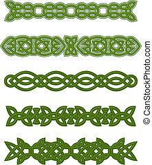 embellishments, keltisch, grün, verzierungen