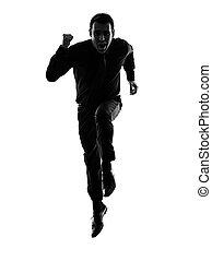ember, árnykép, futás, ügy