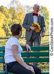ember, öregedő, romantikus