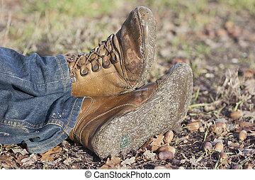 ember, cipők, közelkép