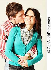 ember, csókolózás, nő