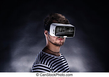 ember, fárasztó, lényegbeni realitás, védőszemüveg
