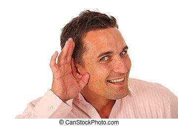ember, fül, kéz
