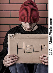 ember, könyörgés, helyett, segítség