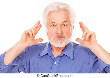 ember, kap, gondolat, öregedő, jelentékeny