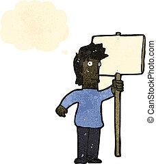 ember, karikatúra, aláír