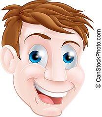 ember, karikatúra, arc