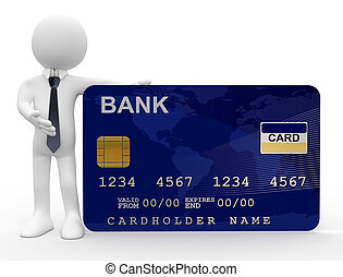 ember, kiállítás, hitelkártya
